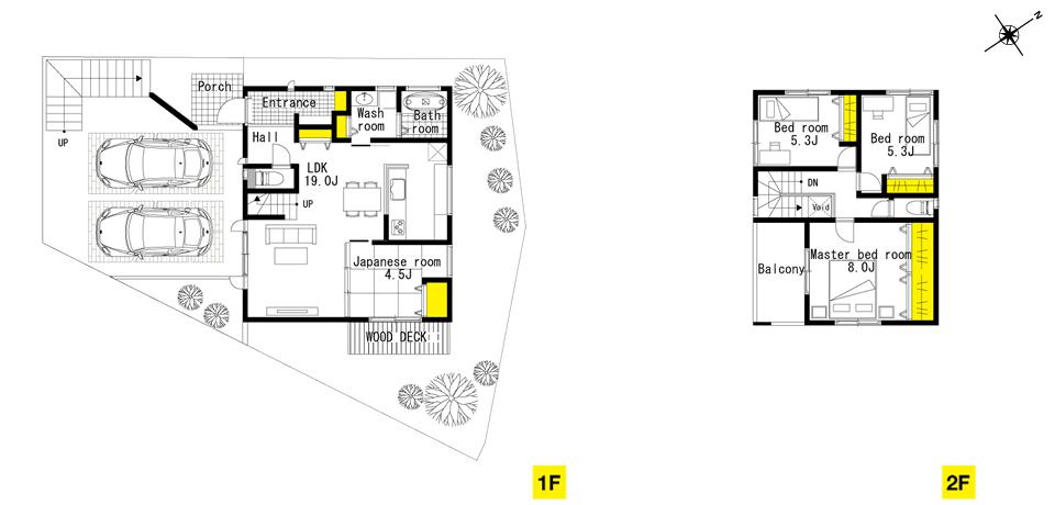 奥天神町、18号地 高台感を高める階段のアプローチがある家。| ザ・カーサ奥天神プロジェクト