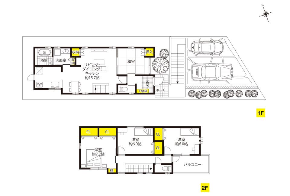 奥天神町、09号地 家族が自然に集まる空間を演出する家。| ザ・カーサ奥天神プロジェクト