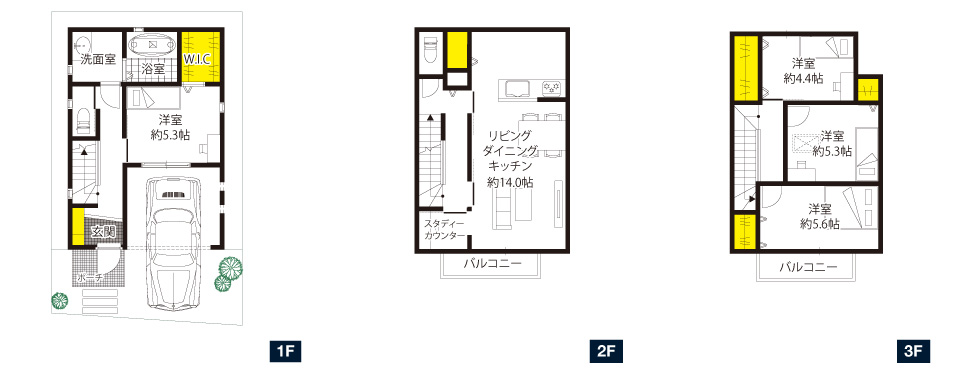 高槻市富田駅前、09号地 家族が自然に集まる空間を演出する家。|ザ・カーサシリーズ富田駅前プロジェクト